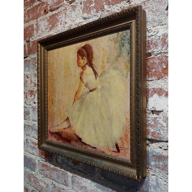 Paint Female Dancer Stretching - Oil Painting For Sale - Image 7 of 9