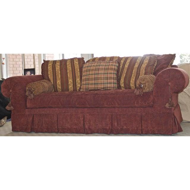Lane Raymond Waites Custom Bolster Sofa For Sale - Image 9 of 13