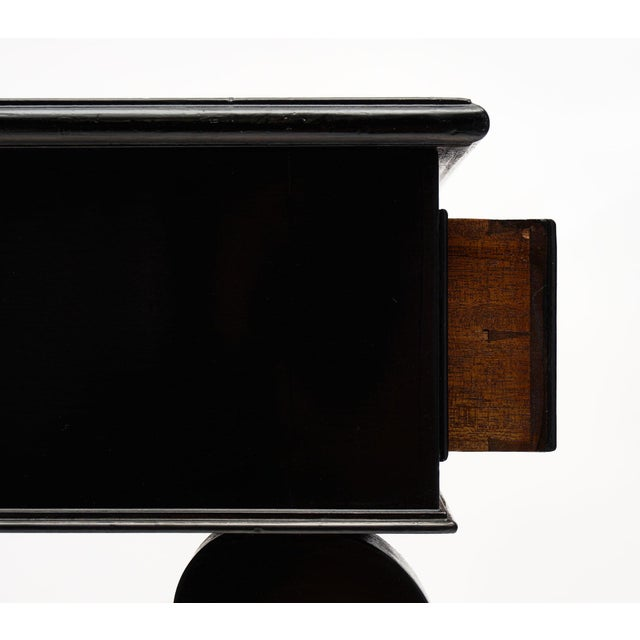 Ebony French Antique Curule Writing Desk For Sale - Image 8 of 10