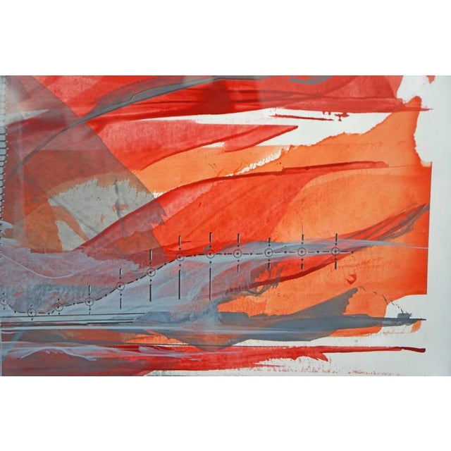 """""""IR-1534 Red Fire"""" Painting - Image 6 of 7"""