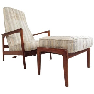 Mid-Century Folke Ohlsson Reclining Lounge Chair for Dux For Sale