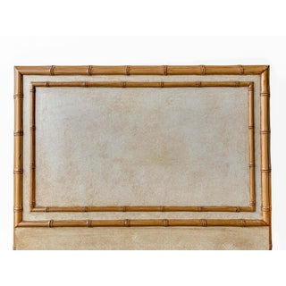 Twin Sized Tan Headboard With Faux Bamboo Finish and Molding Preview