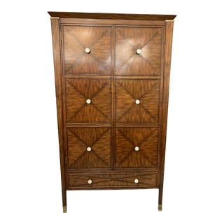 Maitland-Smith Two Door + Five Drawers Armoire For Sale
