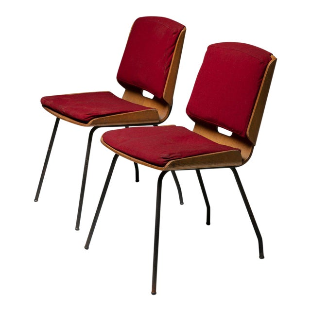 """Pair of """"Lucania"""" Chairs by Giancarlo De Carlo for Arflex For Sale"""