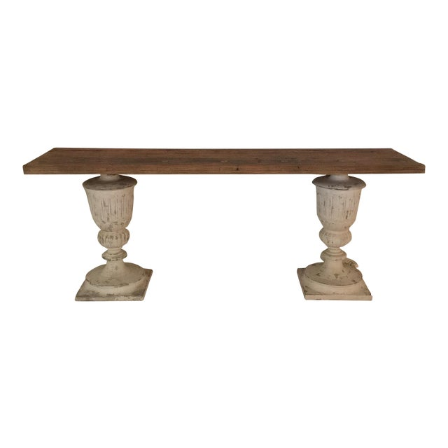 Rustic Faux Stone Console Table - Image 1 of 4