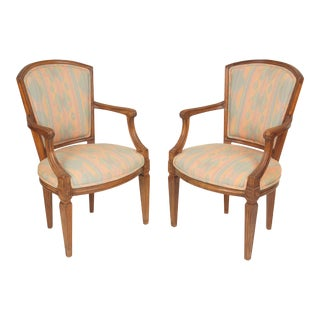 Italian Louis XVI Style Occasional Chairs - a Pair For Sale
