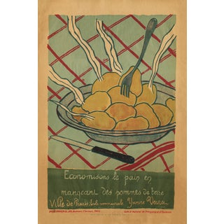 Vintage French Still Life Reproduction Print For Sale