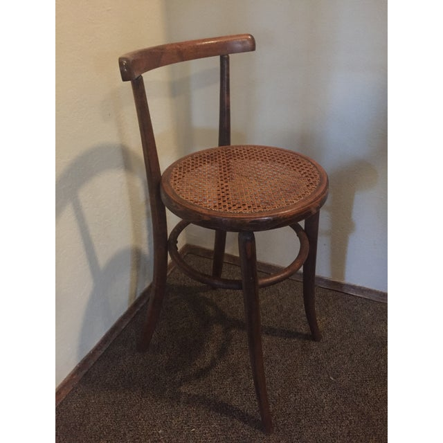 1930s Antique Thonet Style Bentwood Counter Bar Stool For Sale - Image 12 of 13