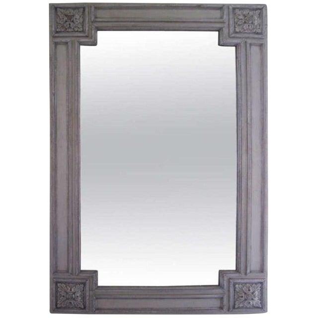 19th C. Italian Painted Church Frame Wall Mirror For Sale