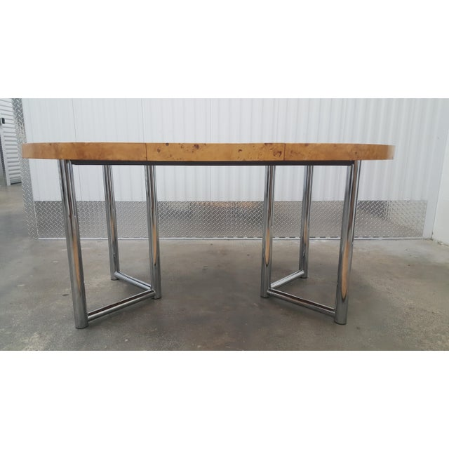 Milo Baughman Mid-Century Modern Milo Baughman Dinner Table . For Sale - Image 4 of 13