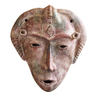 Antique South America Earthenware Mask For Sale