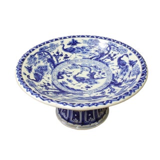 Chinese Blue White Round Porcelain Offer Display Plate For Sale