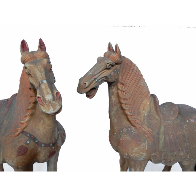 Lg Tang Dynasty-Style Standing Horses - a Pair - Image 7 of 8