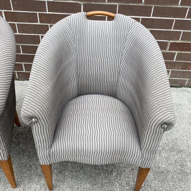 Donghia John Hutton for Donghia Plato Mod Barrel Chairs - a Pair For Sale - Image 4 of 13