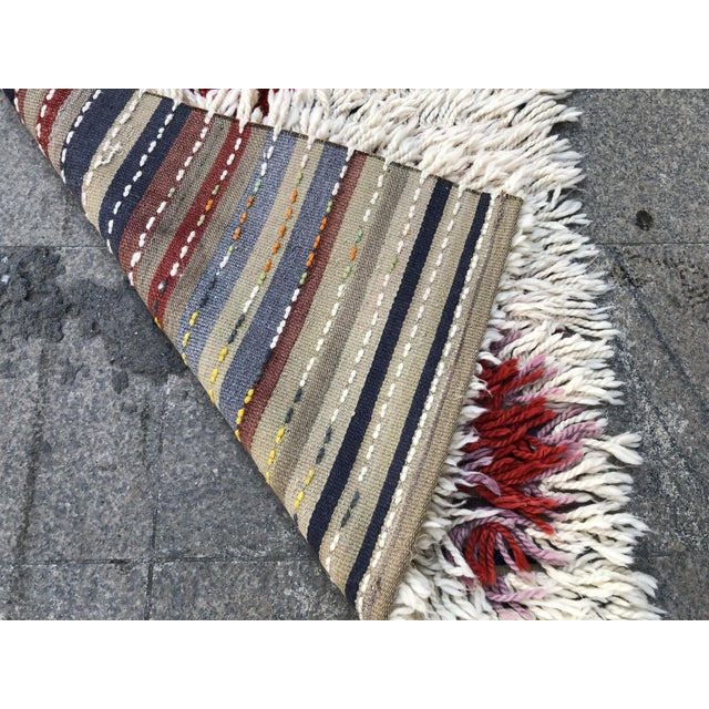 1970s Vintage Hand-Knotted Turkish Runner Rug - 2′9″ × 12′ For Sale - Image 4 of 11