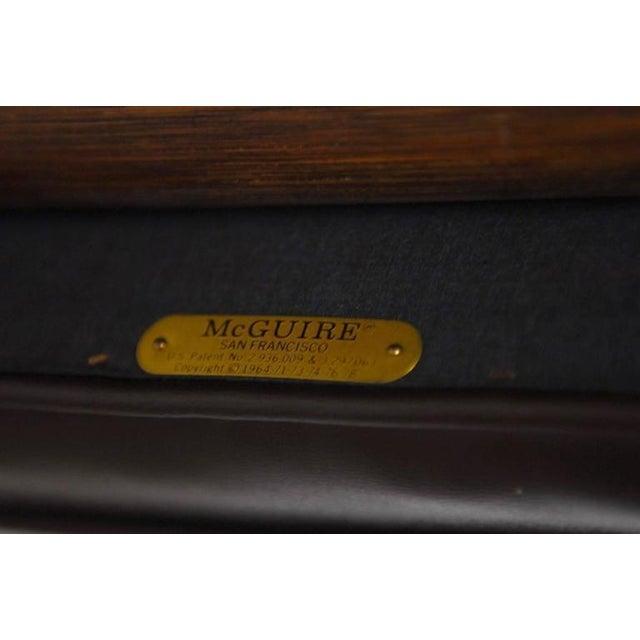 McGuire Bamboo & Cane Swivel Barstools - Set of 4 - Image 6 of 10