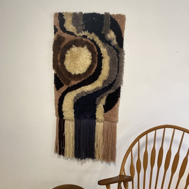 Boho Chic 1960s Fiber Wall Art For Sale - Image 3 of 6
