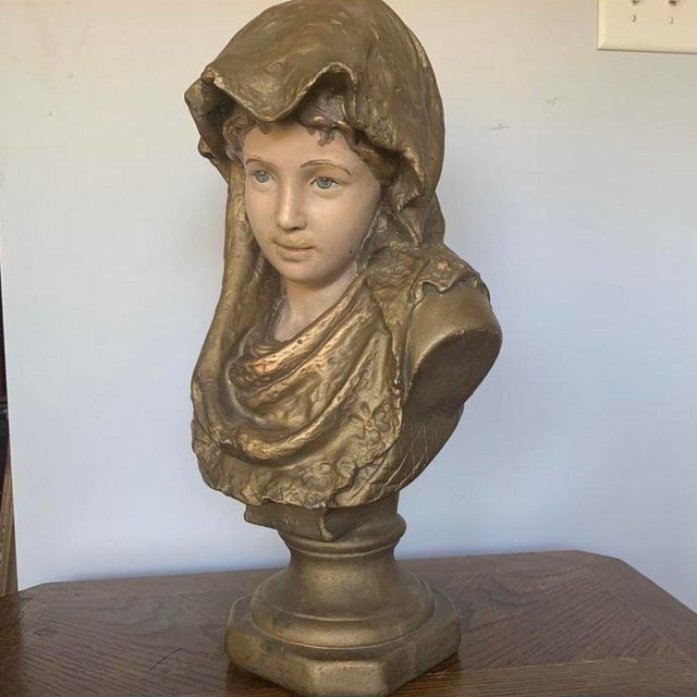 Found at an estate sale of a well-travelled person. This sculpture shows the beauty of french style and chalk ware for...