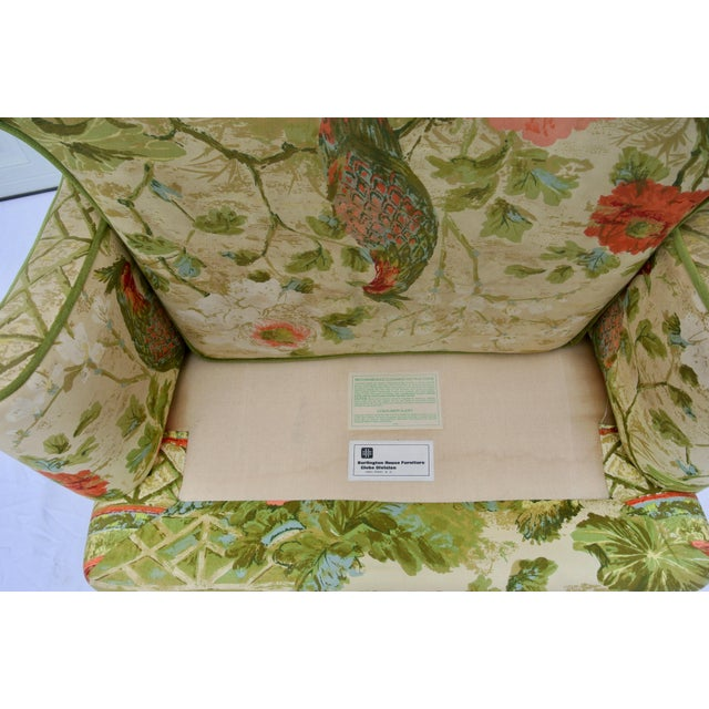Vintage Mid Century Botanical Print Wingback Chair For Sale - Image 11 of 13