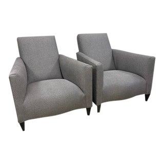 Donghia Serpentine Club Chairs - a Pair For Sale