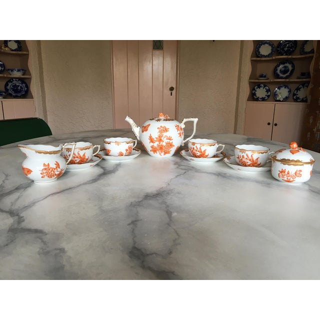 Herend Fortuna Pattern Tea Set - Set of 7 - Image 2 of 11