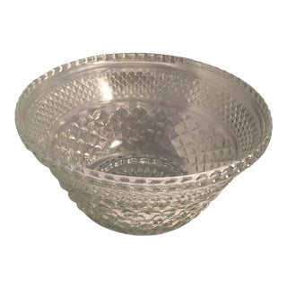Diamond Cut Pattern Crystal Bowl For Sale