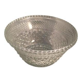 Diamond Cut Pattern Crystal Bowl For Sale