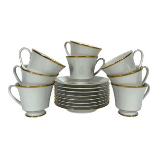 Noritake China Porcelain Tea Set - Set of 8 For Sale