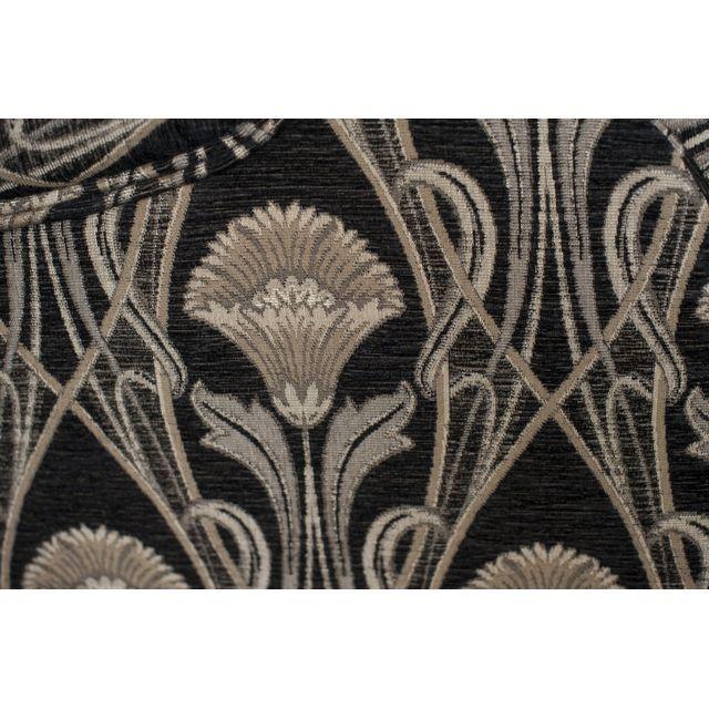 Custom Pearson Black Cream Floral Chair & Ottoman - Image 7 of 7