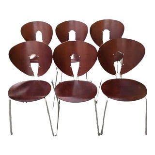 Set of 4 Postmoderm Globus Chairs by Jesus Gasca for Stua For Sale