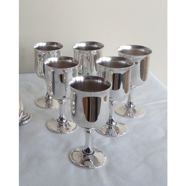 Taunton Silver Cordials & Caddy Holder For Sale - Image 9 of 10