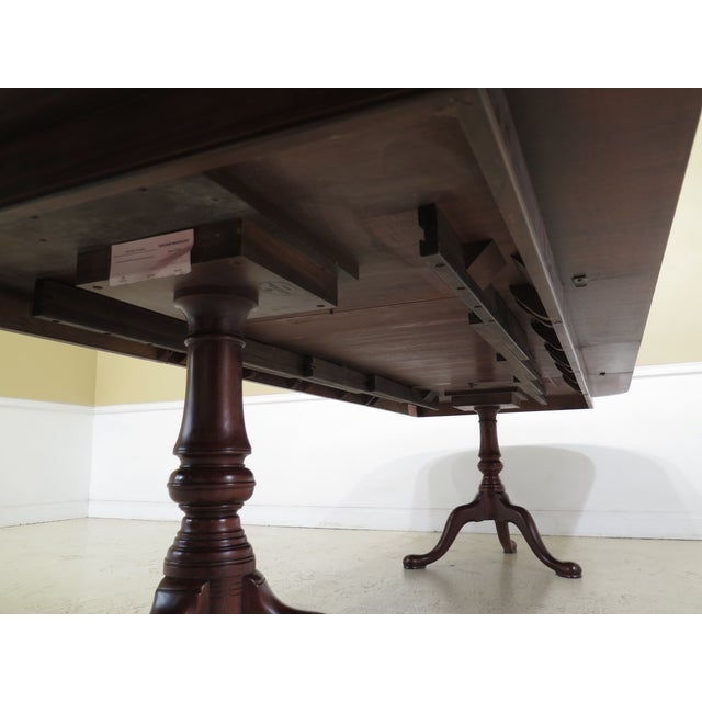 Queen Anne Henkel Harris Banded Mahogany Dining Room Table For Sale - Image 10 of 12