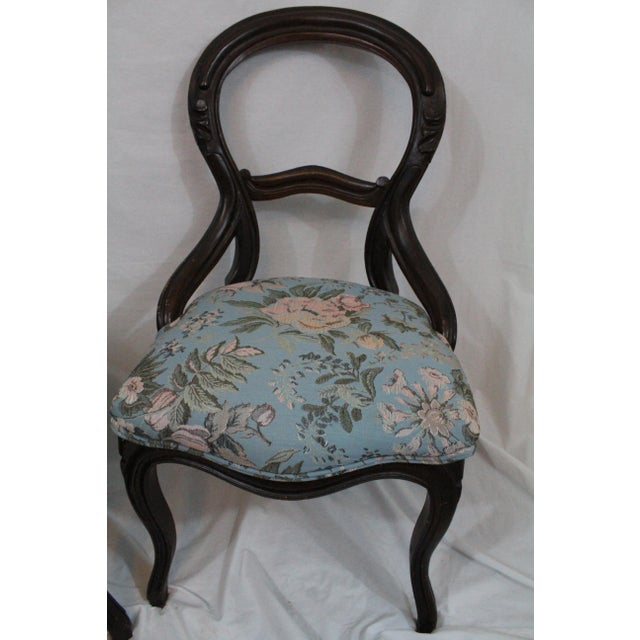 Antique Blue Needlepoint Chairs - A Pair For Sale In Baltimore - Image 6 of 10