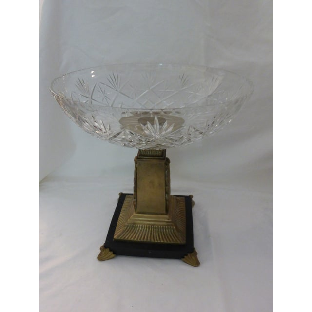 Art Deco Style Crystal Compotes - Pair - Image 3 of 6
