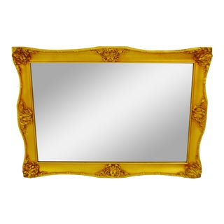 Vintage Framed Gilt Gesso Bassett Wall Mirror For Sale