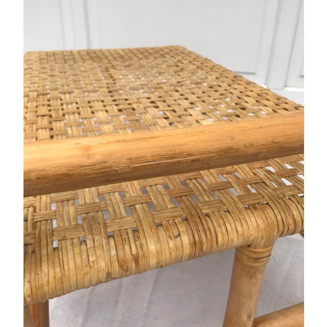 Wood Mid 20th Century Bamboo Side Table For Sale - Image 7 of 8