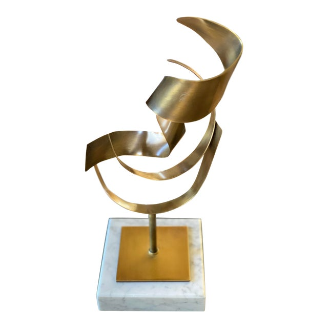 Mitchell Gold Brushed Gold Statues For Sale