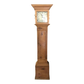 19th Century English Pine Tall Case Clock