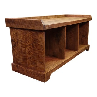 Rustic Barnwood Storage Bench For Sale