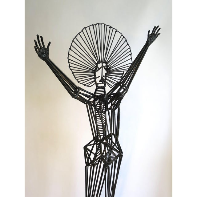 Mid-Century Abstract Figurative Metal Sculpture - Image 6 of 9