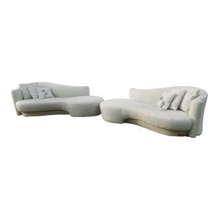 1990's Vladimir Kagan Could Sofas/ Pair For Sale