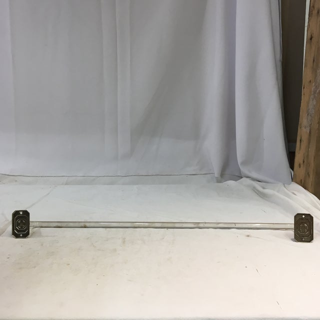 Vintage Lucite Towel Bar With Chrome-Plated Hardware For Sale - Image 12 of 13
