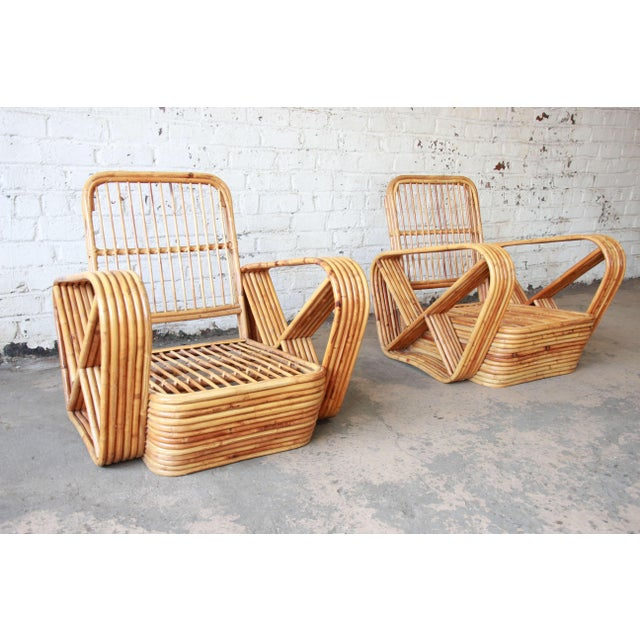 Bamboo Pretzel Chairs Attributed to Paul Frankl - A Pair For Sale - Image 10 of 10