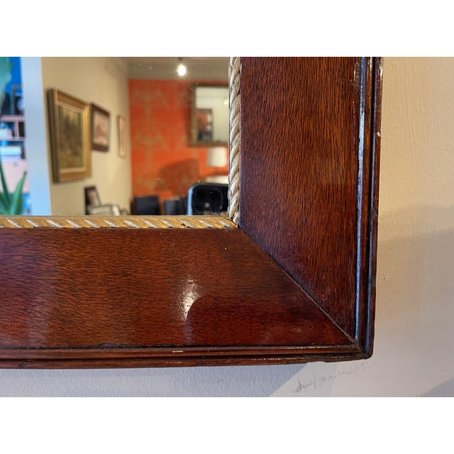 Early 20th Century Antique Gold Trim Mahogany Mirror For Sale - Image 5 of 7