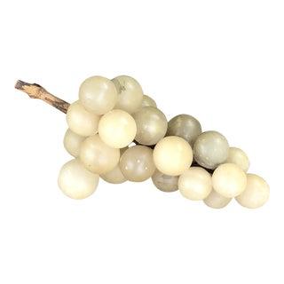 1940s Rustic Cream Alabaster Grape Cluster For Sale