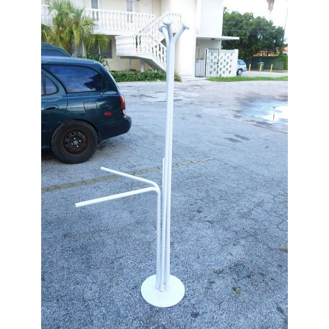 20th Century Italian Architectural Space Age White Enamel Coat Rack For Sale - Image 4 of 7
