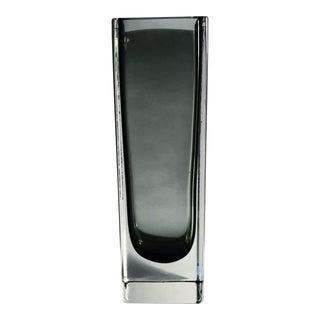 Kaj Franck Nuutajarvi Findland Smoke Glass Vase For Sale