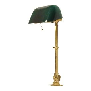 H.F. McFaddin & Co. 1920s American Emeralite Brass Adjustable Desk Lamp For Sale