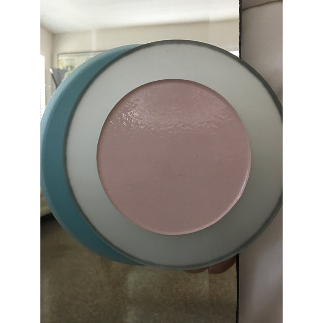 Blue 1980s Vintage Pop Art Style Mirror For Sale - Image 8 of 8