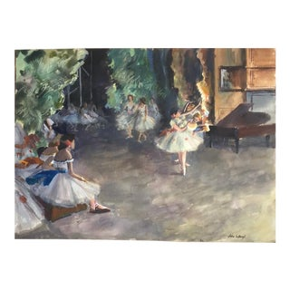 The Rehearsal Impressionist Watercolor Painting For Sale